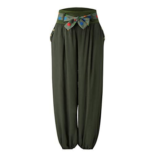 Sale UOKNICE Pants Rompers for Women,Bussiness Wear Women Ladies Pocket Band Width Loose Leg Pants Women's Casual Pants