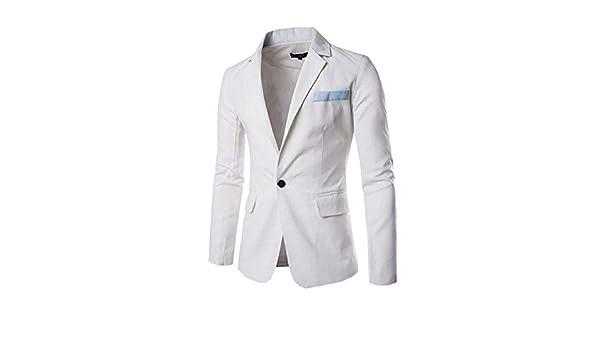 Blazer Slim Fit Blazer Clásico para Hombres Fiesta Un ...