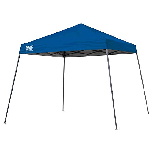 Quik Shade Expedition 10 x 10-Foot Instant Canopy, Slant Leg Outdoor Tent, 64 Square Feet of Shade for 8-12 People - Royal (Windy City Distributors)
