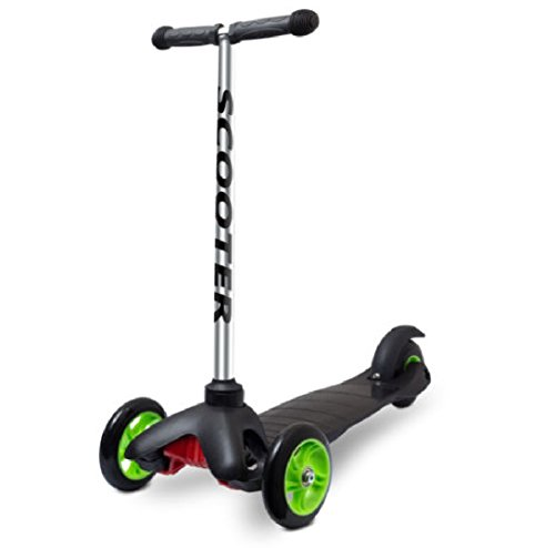NEW Scooter for Kids - Deluxe Black 3 Wheel Glider with Kick n Go, Lean 2 Turn, Step 4 Break- 2016 Newly Designed Models