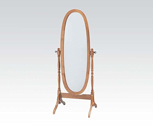 "Brand New Fynn 19""x23''x59''H Oak Finish Adjustable Cheval Mirror - High Quality Fast Shipping Cheval Mirror Dimension: 19""x23''x59''H - mirrors-bedroom-decor, bedroom-decor, bedroom - 31I5Y32Rq8L -"