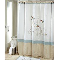 Colibri Fabric Shower Curtain   Hummingbirds