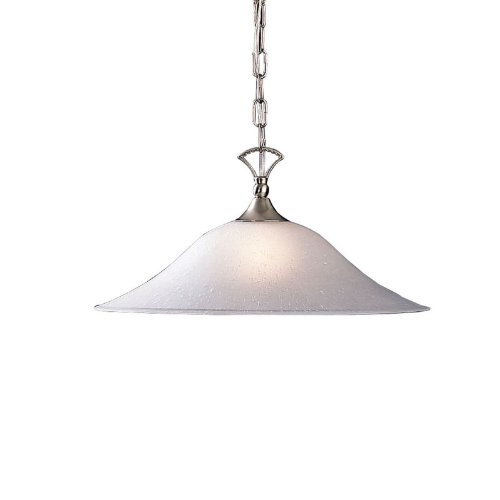 Kichler  2702NIS Dover 1LT Pendant, Brushed Nickel Finish with Satin Etched Glass ()
