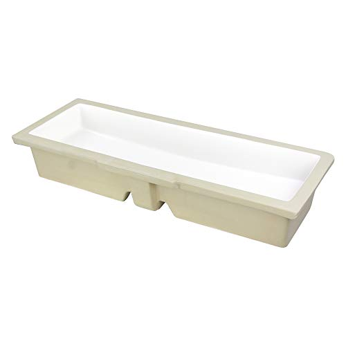 Transolid TL-2100-01 Plymouth 35-1/2-in Undermount Vitreous China Lavatory, White