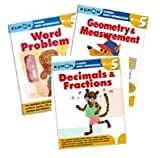 Kumon Grade 5 Math workbooks (3 books) - Fraction, Geometry & Measurement and Word Problem