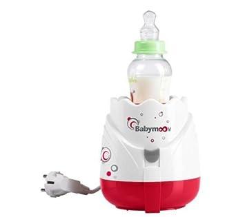 Babymoov A002025 - Dampf-Flaschenwärrmer Tulpe - rot- grau