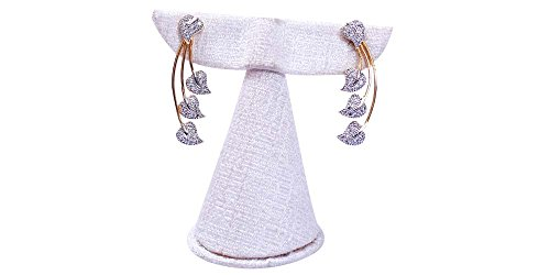 Terramart_ Earring Set_Fashion Jewellery for Women / Girls ( White & Gold )