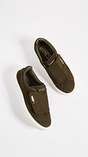 Marshmallow Strap Platform Sneaker Suede Night Olive PUMA Women's olive Wn Night q7FvwwZxt