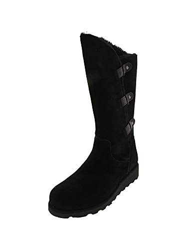 - BEARPAW Women's Hayden Black Ii Mid-Calf Suede Snow Boot - 9M