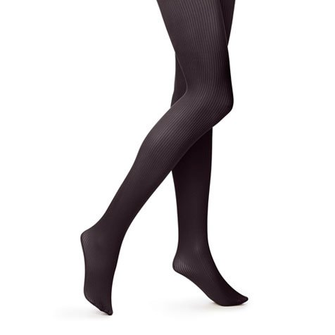 Hue Women's Classic Rib Tight with CT, Black, Small/2