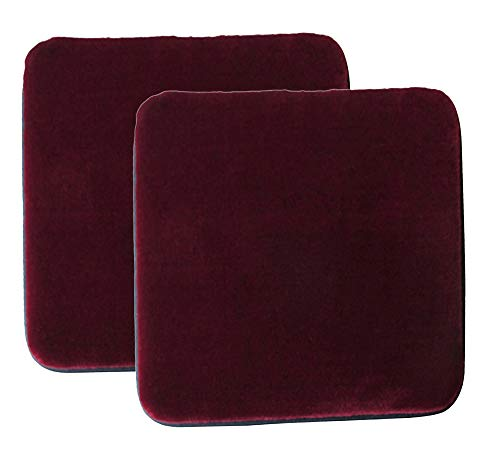 Sigmat Plush Square Seat Cushion for Bar Stool or Chair Pad with Buckle Burgundy 14