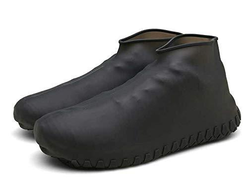 LESOVI Shoe Covers Silicone Waterproof - Men/Women Covers for Shoes - Waterproof Shoe Covers - Home/Carpet/reusable/Outdoor/Walking/Boot -Reusable Non Slip Grip -Durable/Reusable (Medium, -