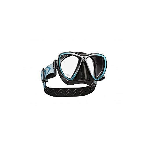 SCUBAPRO Synergy Mini Dive Mask, Black Skirt, Black/Turquoise/Silver