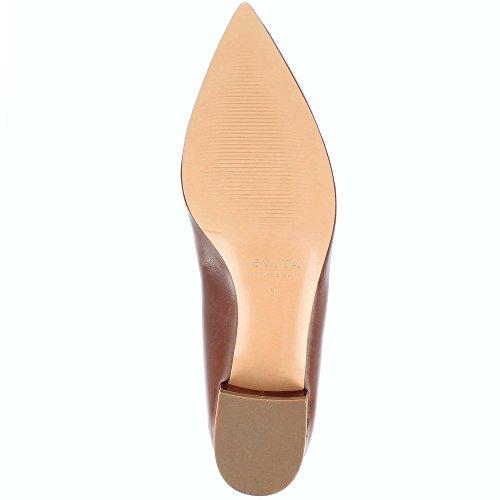 Evita Shoes Franca Escarpins Femme Cuir Lisse Cognac 8IivWe8K