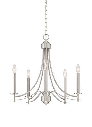Designers Fountain Contemporary Chandelier - Designers Fountain 86985-SP Cassina 5 Light Chandelier, 23.0