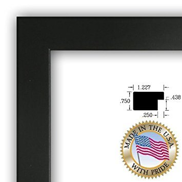 ArtToFrames 9x24 inch Satin Black Picture Frame, 2WOMFRBW26079-9x24 ()