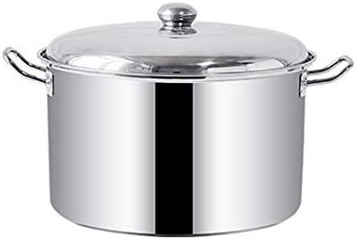 鍋炊飯器、二つのフレーバー分離誘導調理器ステンレス鋼の鍋誘導ホブしゃぶしゃぶスープ調理ポット (Size : 37.5*23cm)