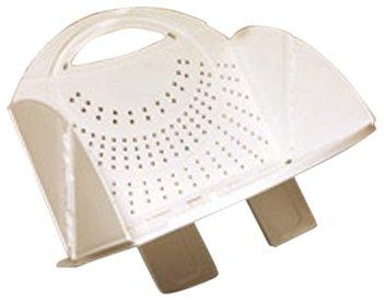 B&R Plastics 2721-12 Folding Colander - White