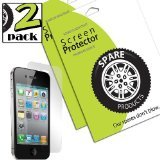 (Spare Products Screen Protector Film for iPhone 4-1 Pack - Retail Packaging - Clear )