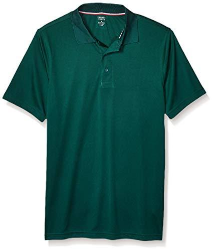 French Toast Men's Big Boys' Moisture Wicking Stretch Sport Polo Shirt, Hunter Green, X-Large