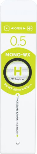Tombow Mono WX Spare Pencil Lead, H, 0.5mm, 40-Pack by Tombow (Image #1)