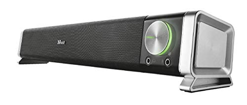 Trust 21046 Asto PC Soundbar Speaker for Computer and Laptop, 12 W, USB...