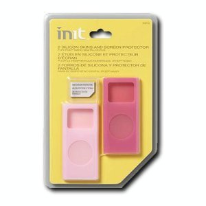 Init® Protective Skins for 2nd-Generation Apple® iPod™ nano - Light Pink/Bright Pink