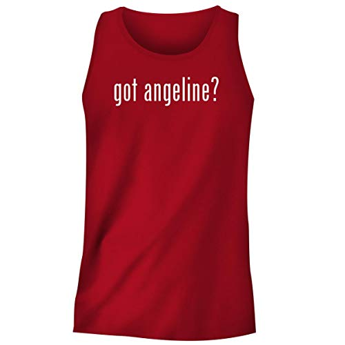 One Legging it Around got Angeline? - Men's Funny Soft Adult Tank Top, Red, X-Large