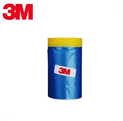 3M Car Masking Tape, Tape'n Drape Pre-Taped (65 Feet ) (25.6 In)