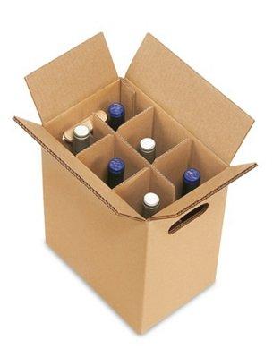 Amazon.com: Caja de transporte de vino – botella de 6 ...