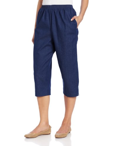 Alfred Dunner Women's Capri,Denim,20