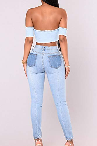 Serrs Skinny Slim Occasionnel Digne Cheville Jeans Pantalon Pantalons Zojuyozio Les La Blue Jeans qxOFFw