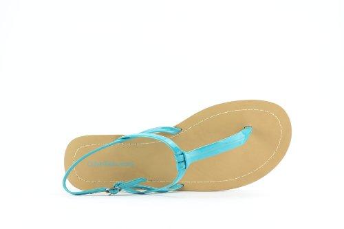 Femme Klein Sandales Calvin Jeans Turquoise Patent Sage ORXdq