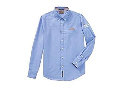 Porsche Hombre Classic Camisa (Talla S), color azul claro: Amazon ...