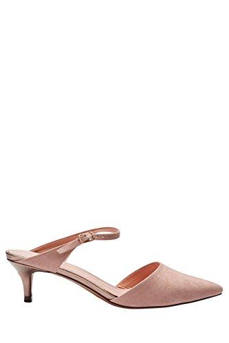 next Mujer Mules Tacón Bajo Corte Regular Zapatillas Calzado Rosa