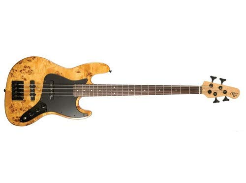 Michael Kelly Custom Collection Element 4 Burl 4 String Bass Guitar Right (MKE4CBBPRU) by Michael Kelly