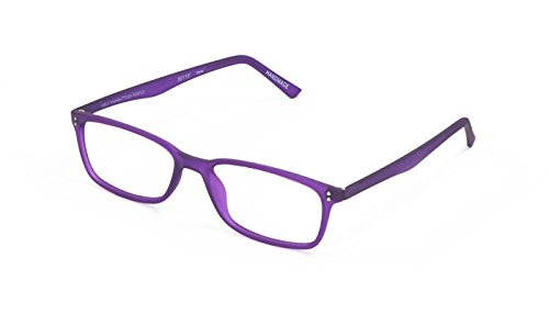 Scojo New York Gels MANHATTAN PURPLE Reading Glasses (+1.25 Magnification - Manhattan Eyeglasses