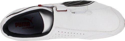 Puma - Zapatillas de cuero para hombre, color blanco, talla 44