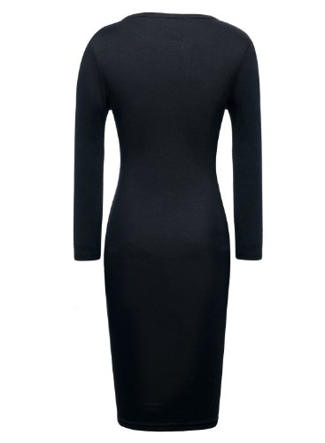 GURAIO Keyhole with Metal Buckle Bodycon Pencil Party Dress