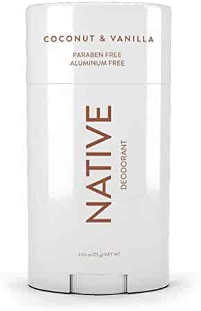 Native Deodorant - Natural Deodorant - Vegan, Gluten Free, Cruelty Free - Free of Aluminum, Parabens & Sulfates - Born in the USA - Coconut & Vanilla