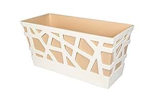 IDeL - Mosaic flowerbox 40Caja, Blanco/Arena, 40x 17x 20cm