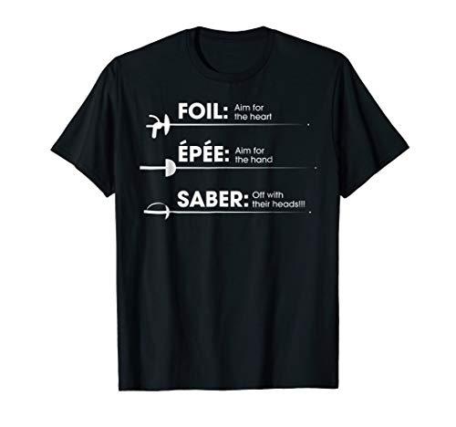 Fencing T-Shirt -Foil Saber Definition Funny Gift For Fans