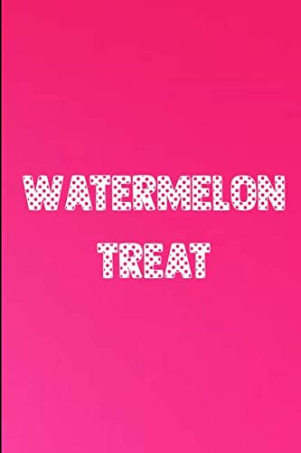 Watermelon Halloween Scary Treat: Blank Lined Journal To Write In (6x9) -