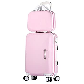 Image of Luggage Song Luggage Spinner Luggage ABS Trolley Travel Lightweight Hardshell Suitcase - 20 Inch Pink Set