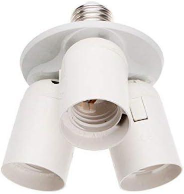 E26 E27 Light Bulb Splitter 3 Way Converter 3 in 1 Light Socket Adapter