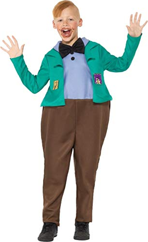 Roald Dahl Deluxe Augustus Gloop Costume Medium Age 7-9 ()