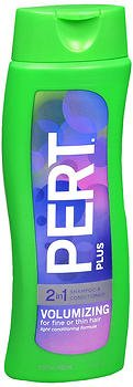 Pert Plus 2 in 1 Shampoo + Conditioner Volumizing, Light, for Fine or Thin Hair 13.5 Oz / 400 Ml (Pack of 2) ...