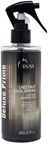 - Truss Deluxe Prime Chestnut Cool Brown Hair Treatment - Ash Brunette Color Refresh Treatment & Heat Protectant Spray For Ash Brown Hair, Detangler, Repairs Dry, Damaged, Color Treated Hair