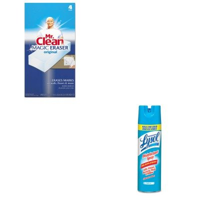 KITPAG82027RAC04675CT - Value Kit - Professional LYSOL Brand III Disinfectant Spray Fresh Scent, 19 oz. Aerosol Can (RAC04675CT) and Mr. Clean Magic Eraser Foam Pad (PAG82027)