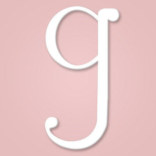 Wooden Wall Letter Hanging Initials Letter: G